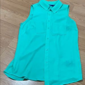 Women's XS Apt 9 mint green  blouse